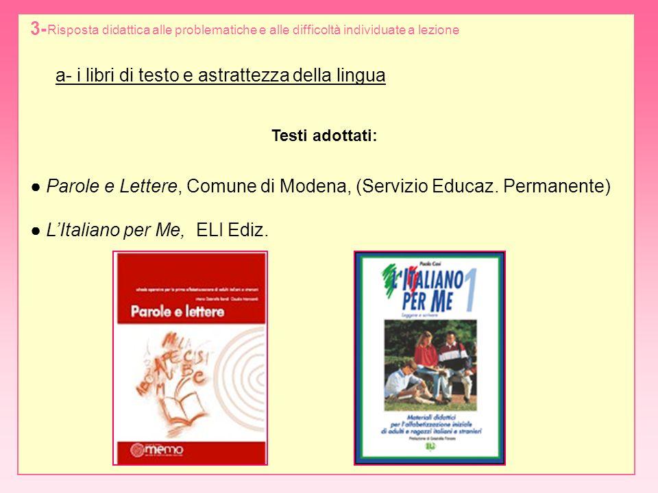 a- i libri di testo e astrattezza della lingua