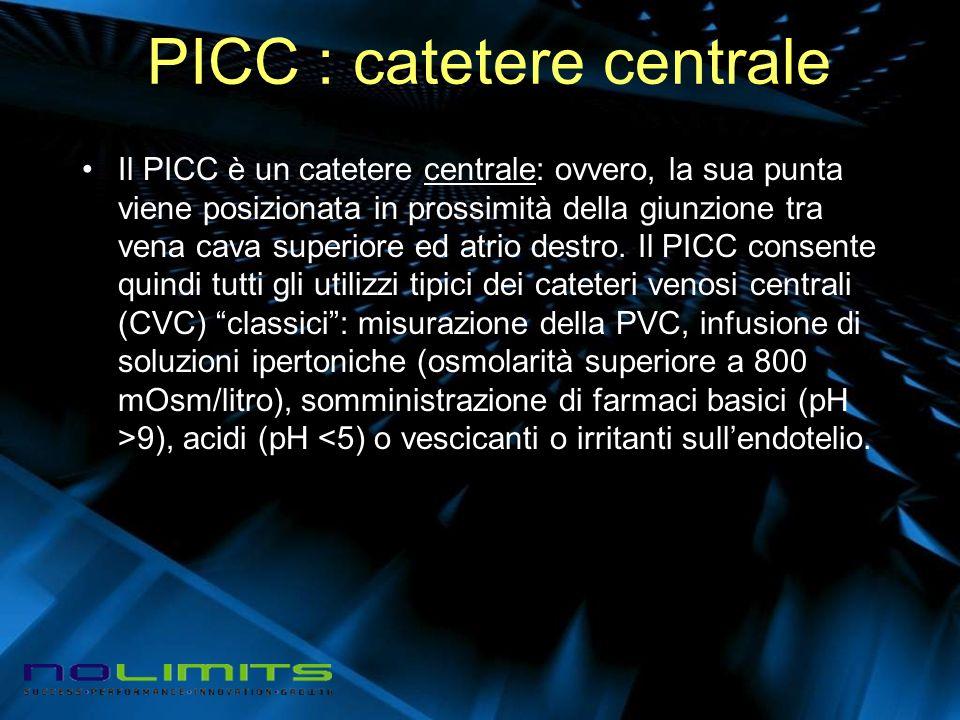 PICC : catetere centrale