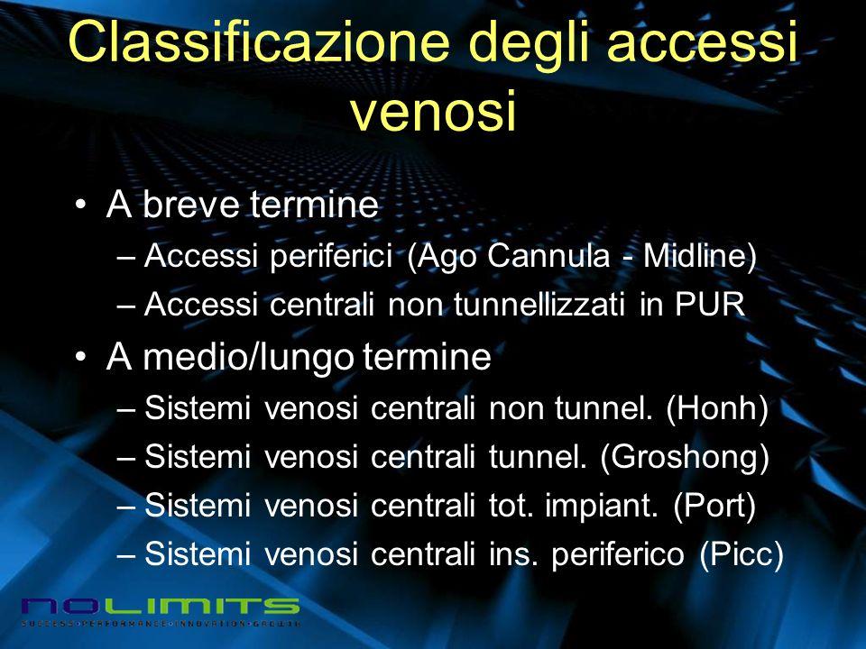 Classificazione degli accessi venosi