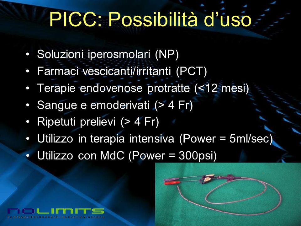 PICC: Possibilità d'uso