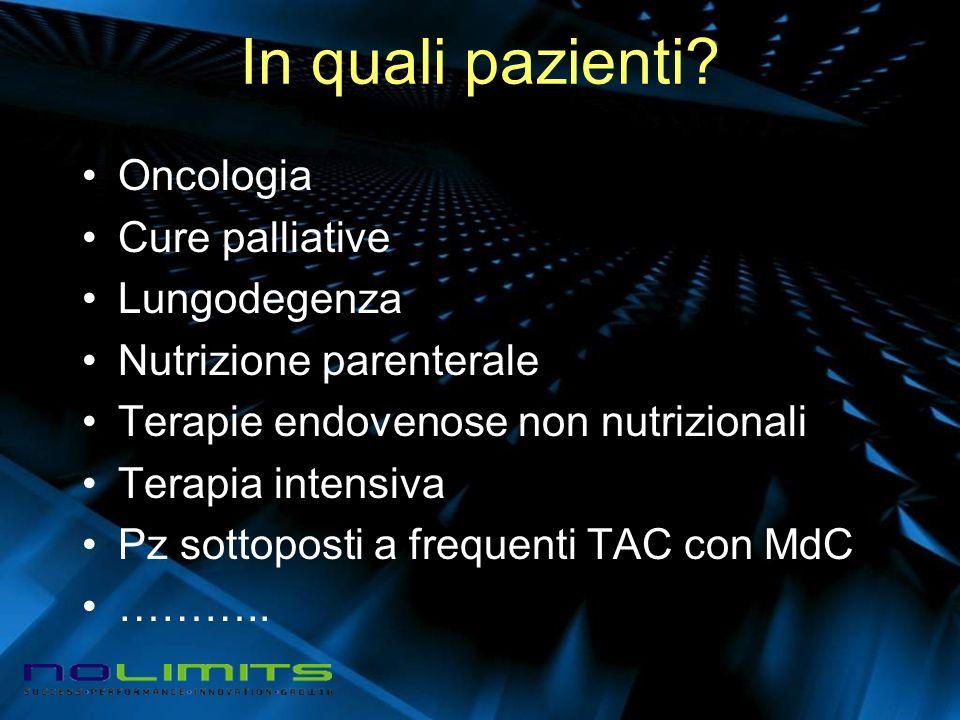 In quali pazienti Oncologia Cure palliative Lungodegenza