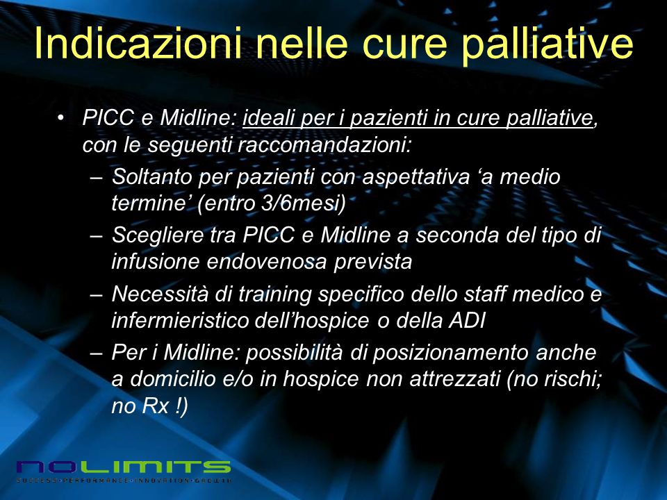 Indicazioni nelle cure palliative