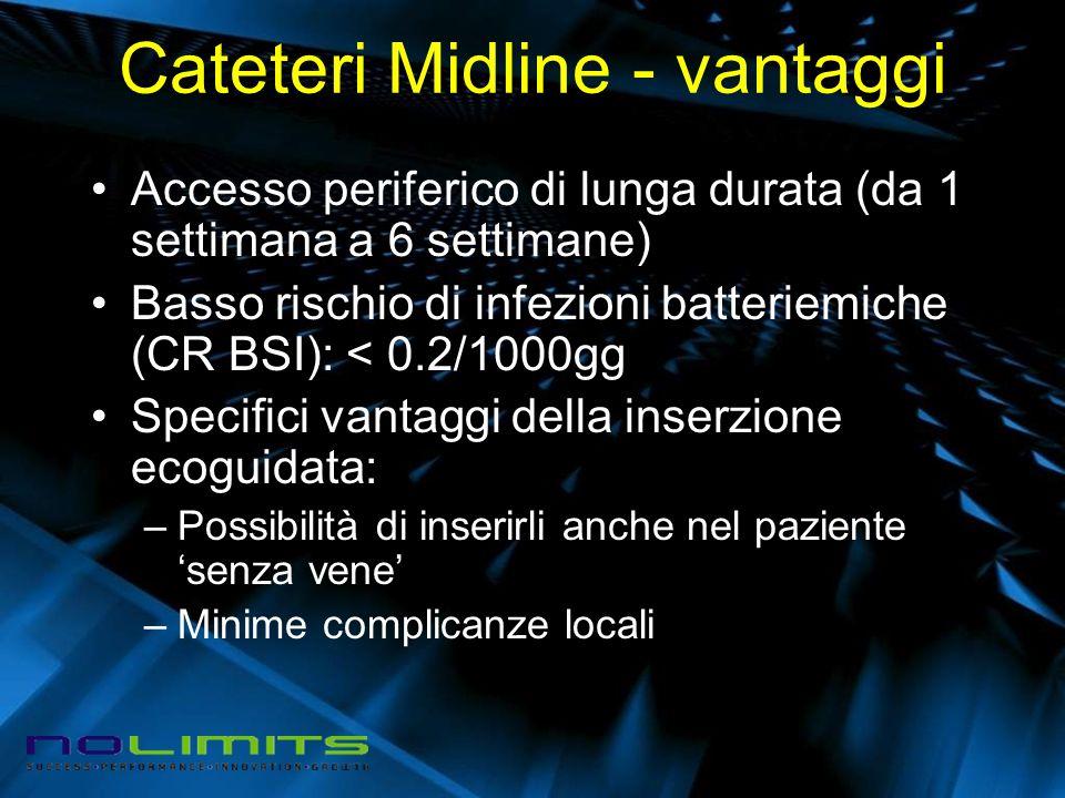 Cateteri Midline - vantaggi