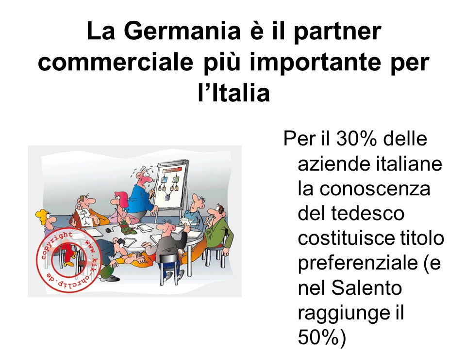 La Germania è il partner commerciale più importante per l'Italia