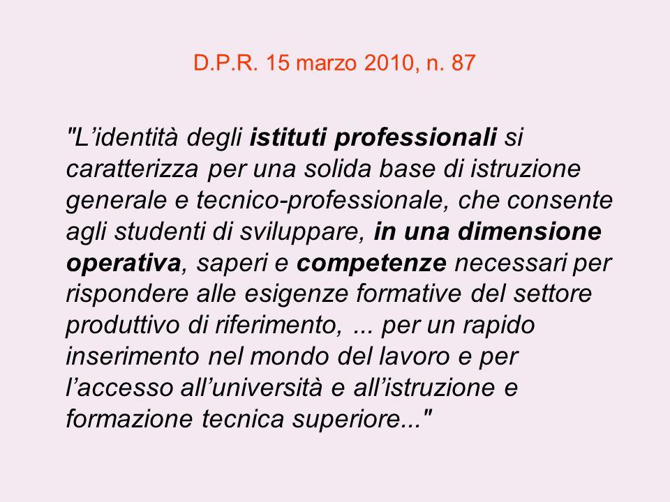 D.P.R. 15 marzo 2010, n. 87