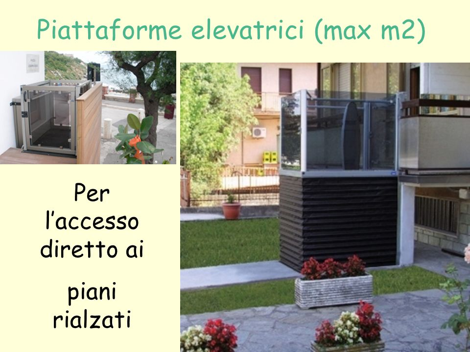 Piattaforme elevatrici (max m2)