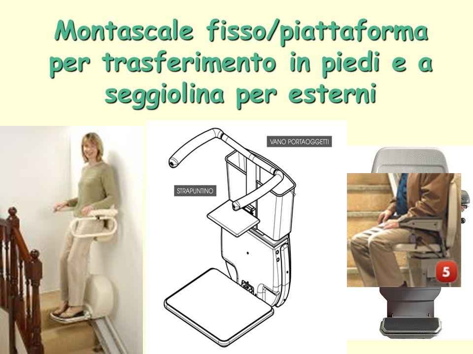 Montascale fisso/piattaforma per trasferimento in piedi e a seggiolina per esterni