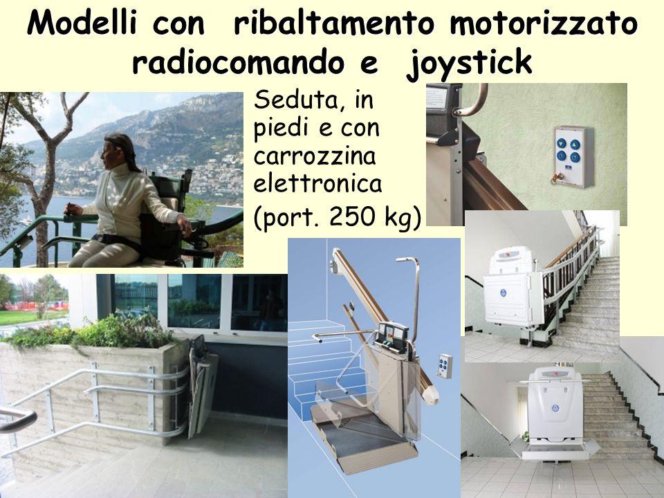 Modelli con ribaltamento motorizzato radiocomando e joystick
