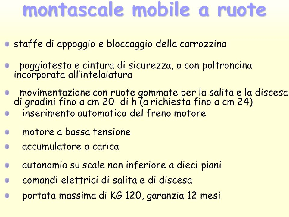 montascale mobile a ruote
