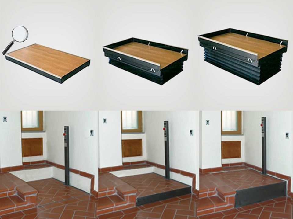 Pedana verticale (o gradino mobile) Supera 22 cm