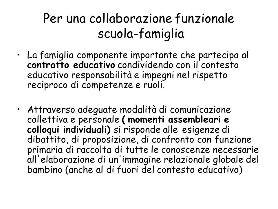 Per una collaborazione funzionale scuola-famiglia