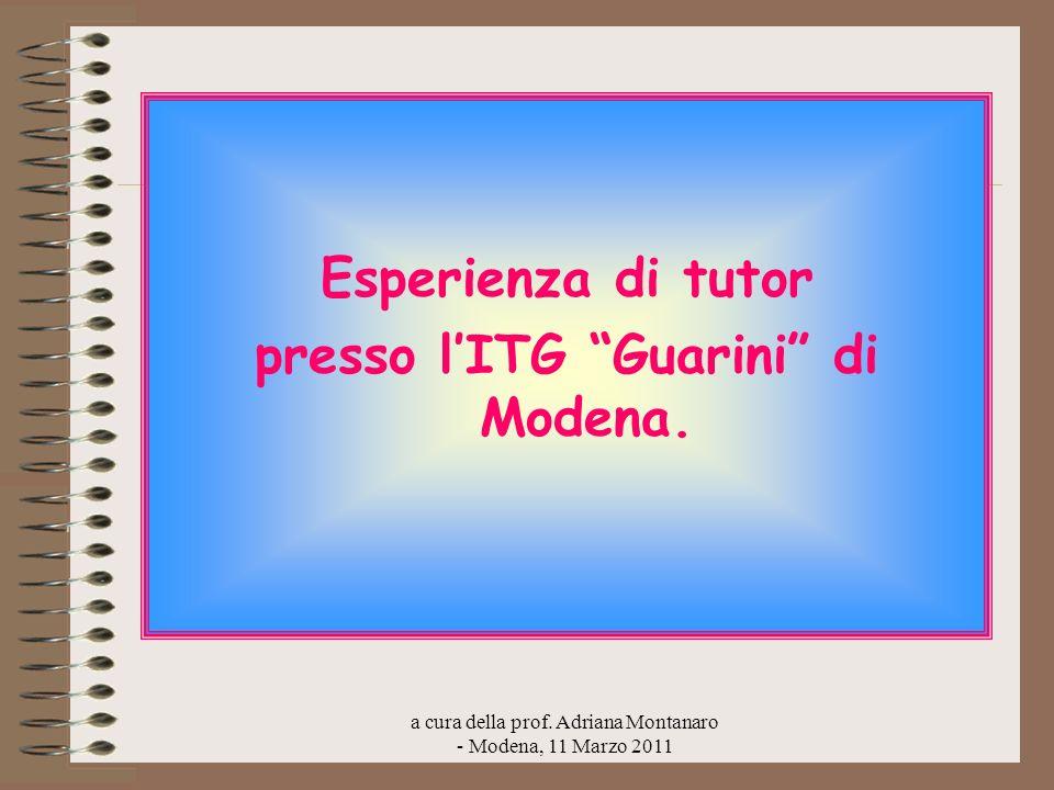 presso l'ITG Guarini di Modena.