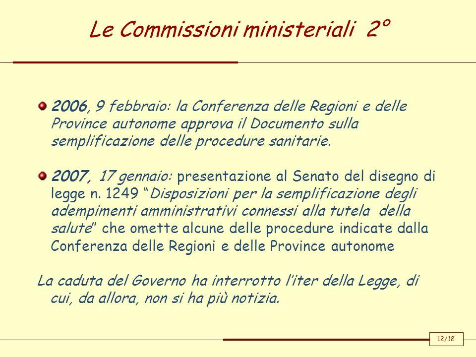 Le Commissioni ministeriali 2°