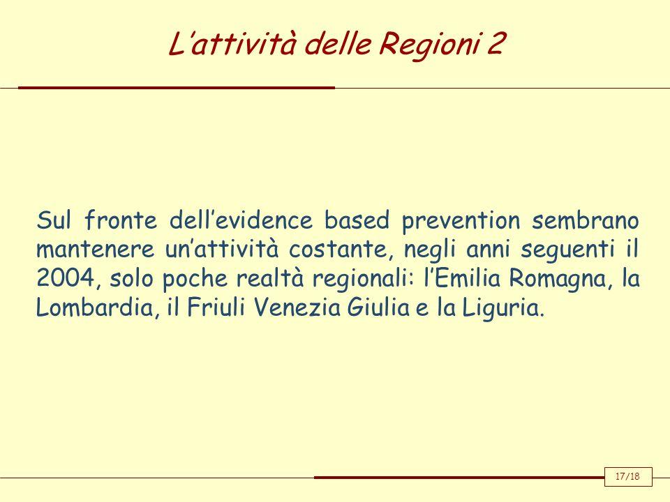 L'attività delle Regioni 2
