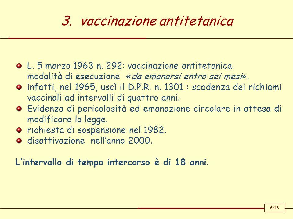 3. vaccinazione antitetanica