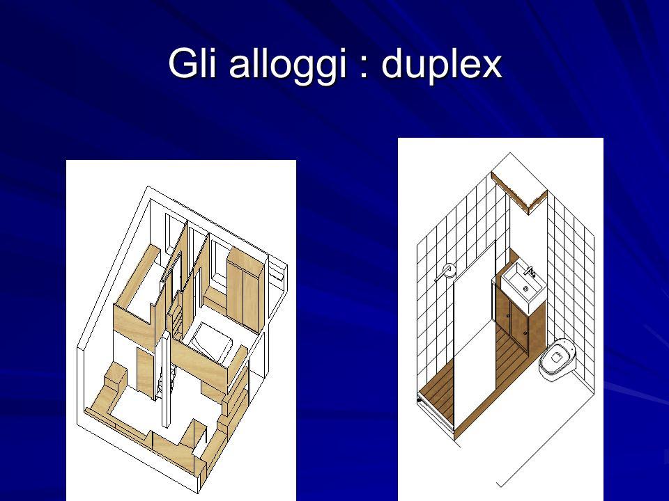 Gli alloggi : duplex