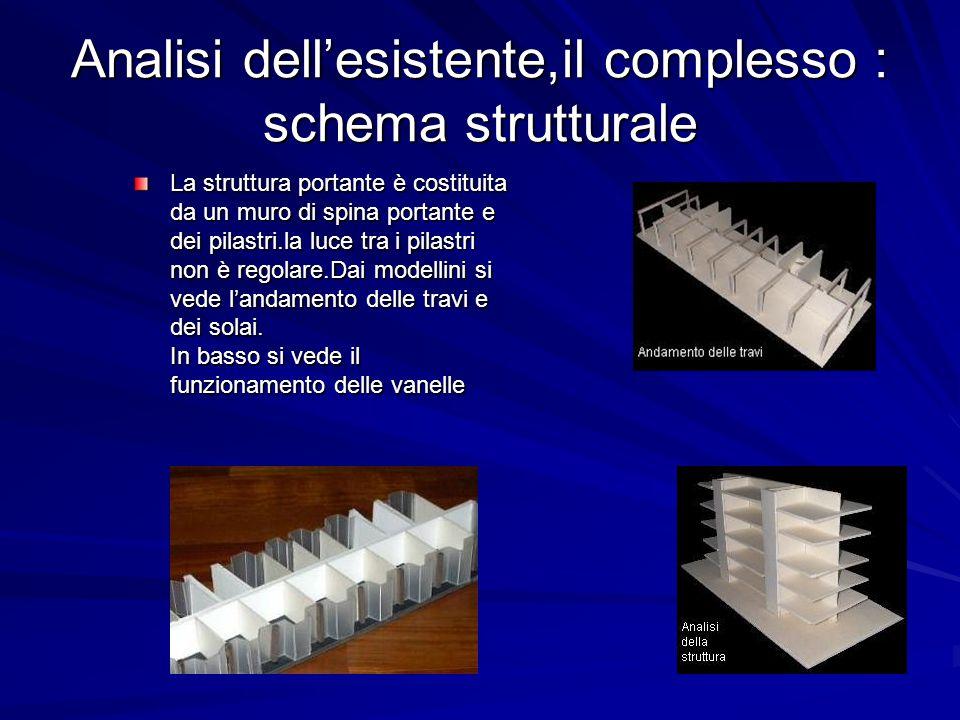 Analisi dell'esistente,il complesso : schema strutturale