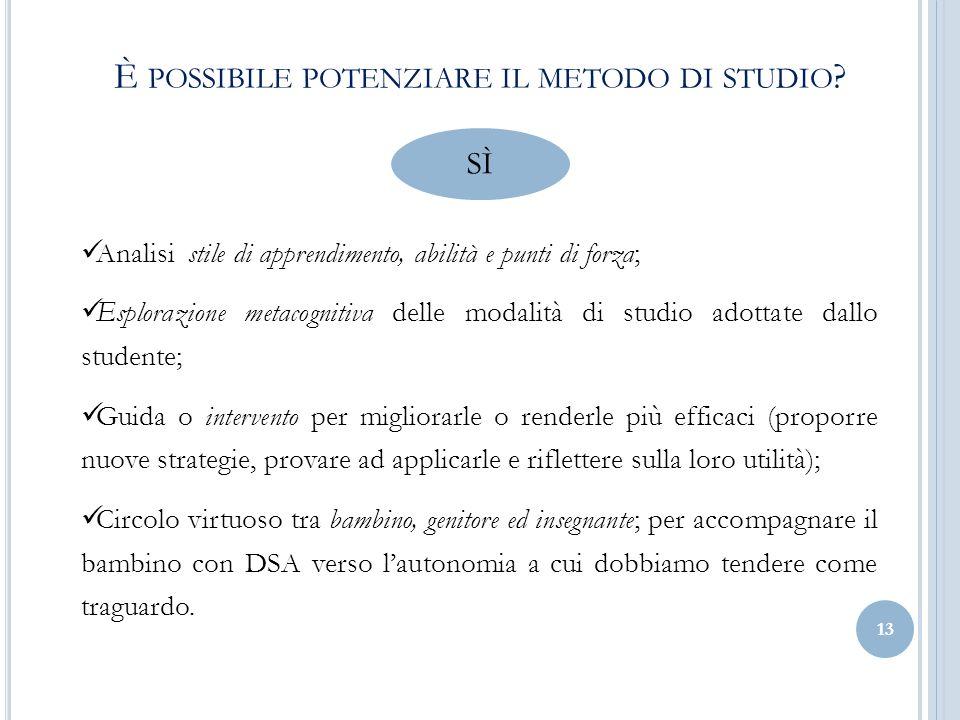 È possibile potenziare il metodo di studio