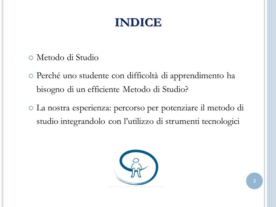 indice Metodo di Studio