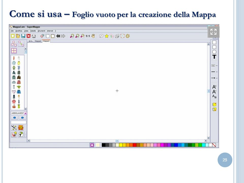 Come si usa – Foglio vuoto per la creazione della Mappa