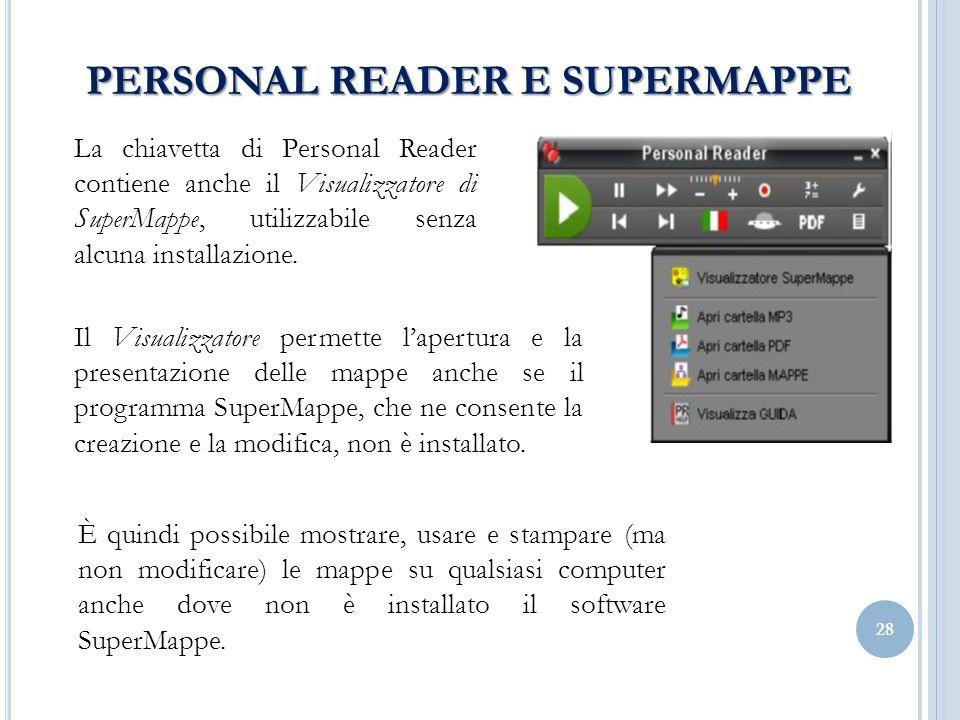 PERSONAL READER E SUPERMAPPE
