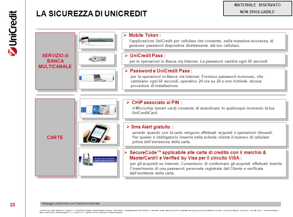 LA SICUREZZA DI UNICREDIT