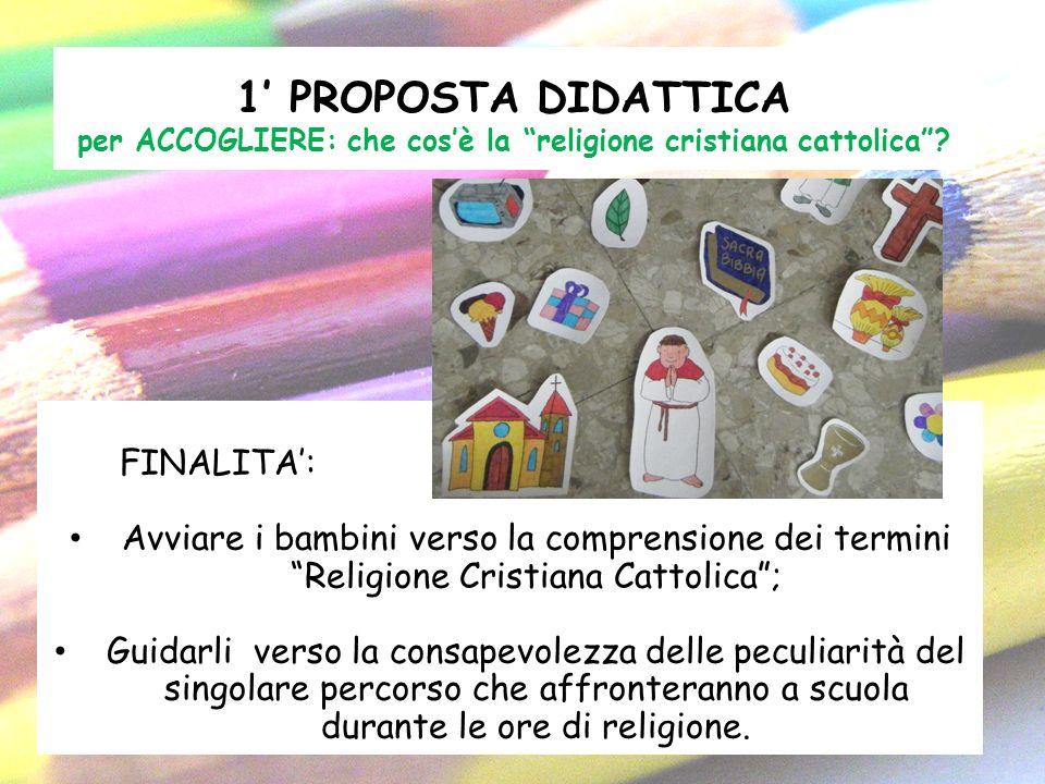 1' PROPOSTA DIDATTICA per ACCOGLIERE: che cos'è la religione cristiana cattolica