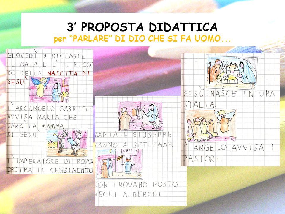 3' PROPOSTA DIDATTICA per PARLARE DI DIO CHE SI FA UOMO...