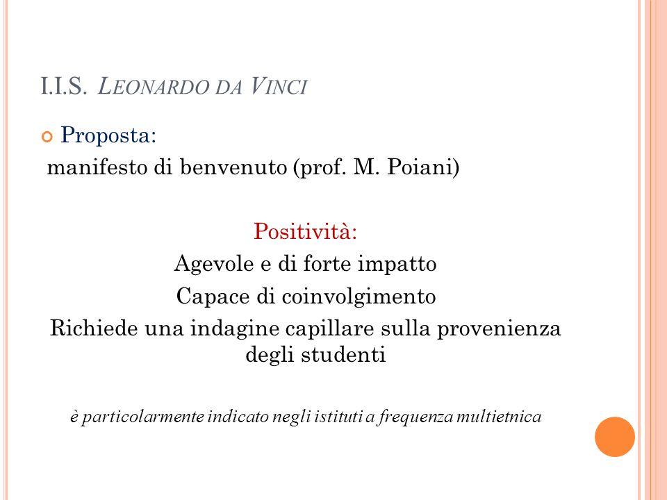 I.I.S. Leonardo da Vinci Proposta: