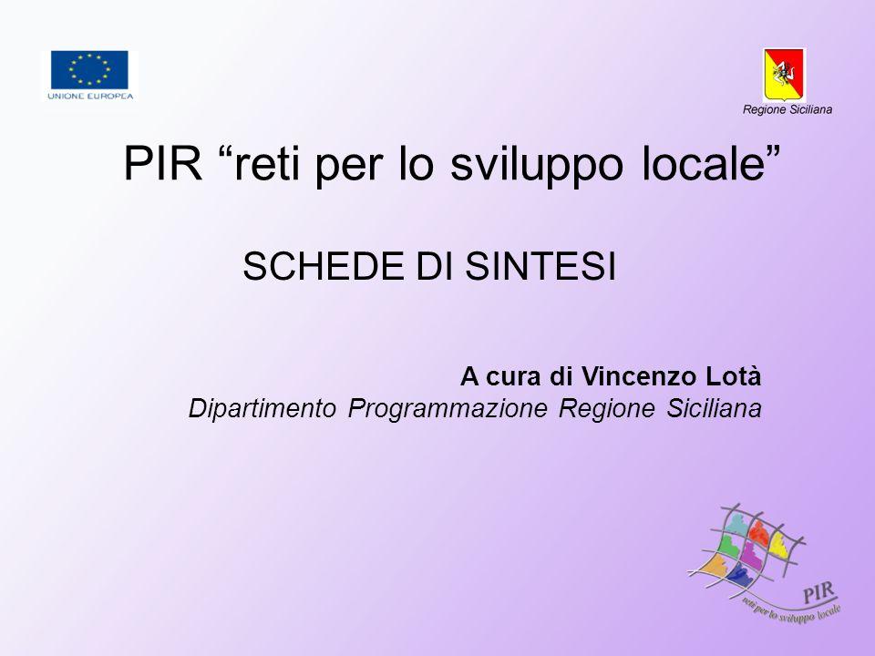PIR reti per lo sviluppo locale