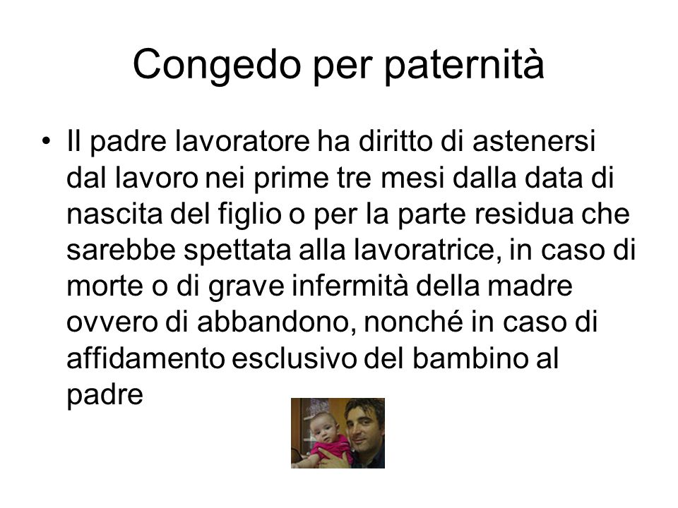 Congedo per paternità