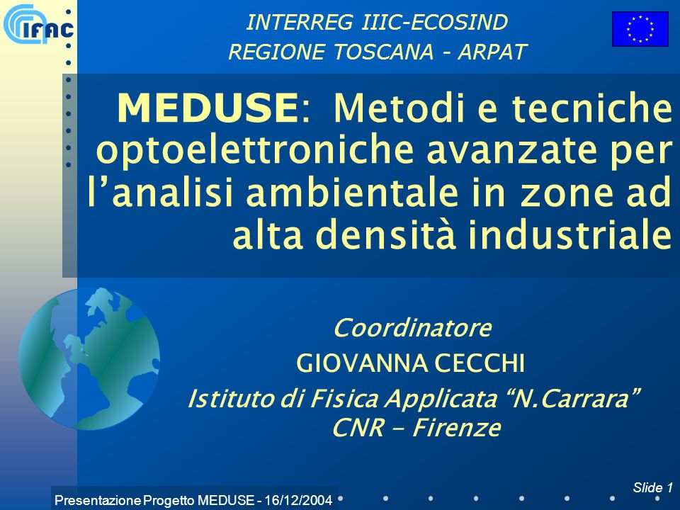 Istituto di Fisica Applicata N.Carrara CNR - Firenze