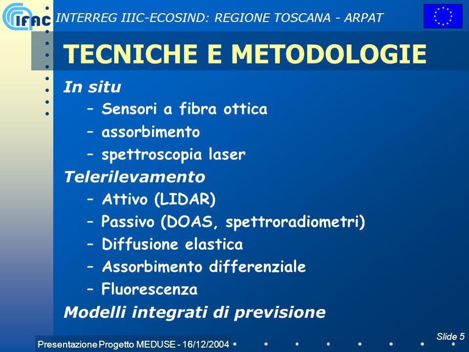 TECNICHE E METODOLOGIE
