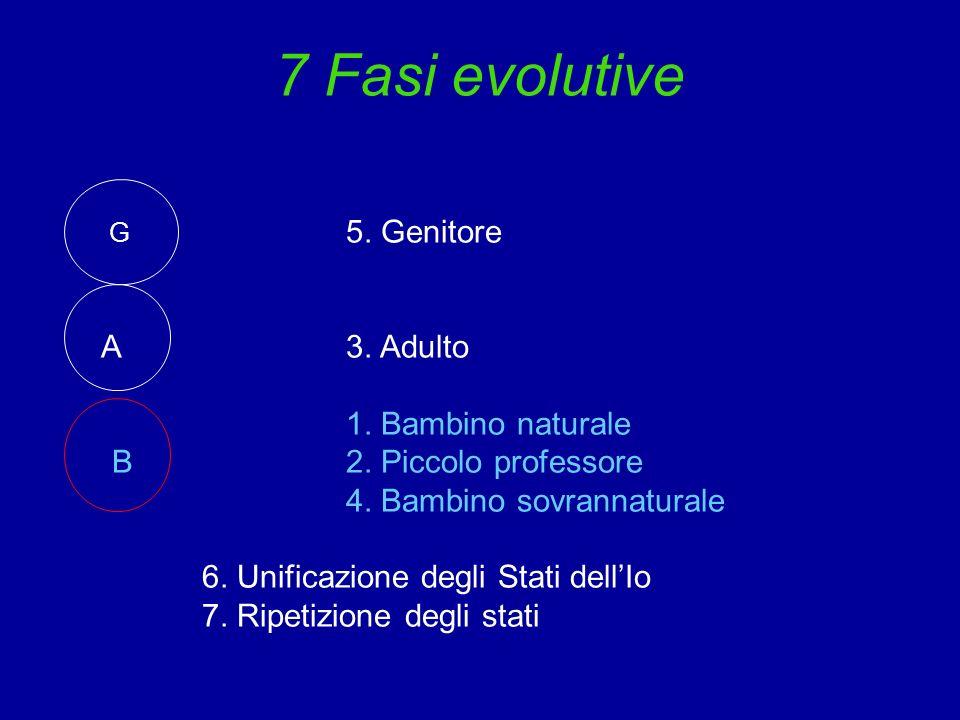 7 Fasi evolutive A 3. Adulto 1. Bambino naturale