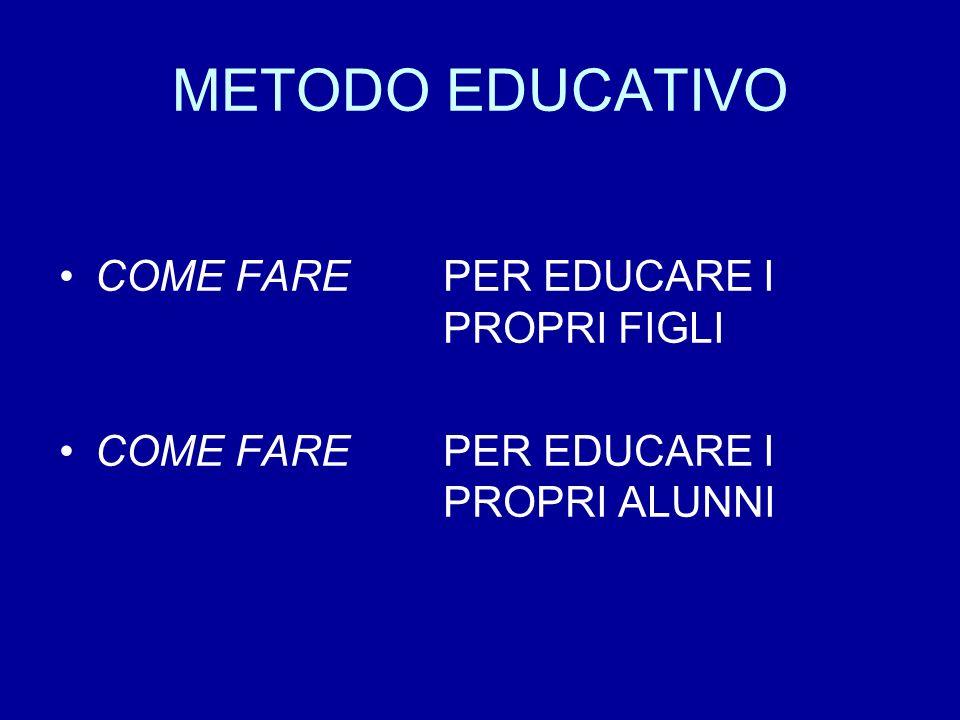 METODO EDUCATIVO COME FARE PER EDUCARE I PROPRI FIGLI