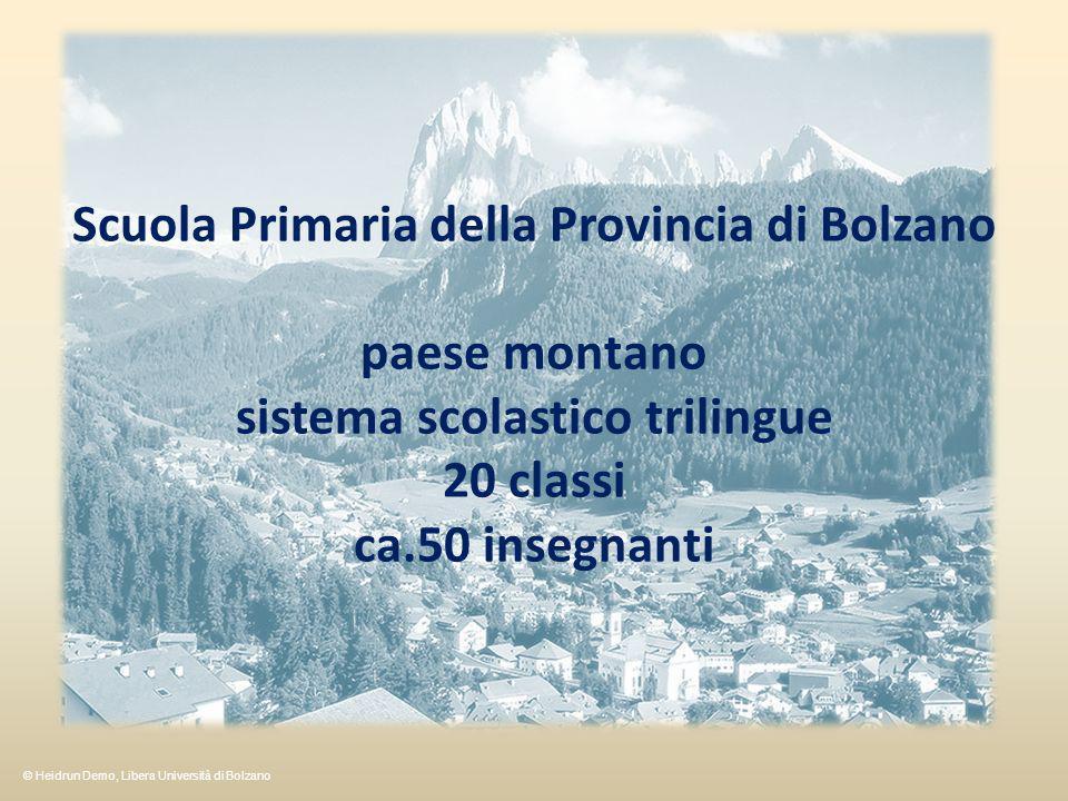 Scuola Primaria della Provincia di Bolzano paese montano
