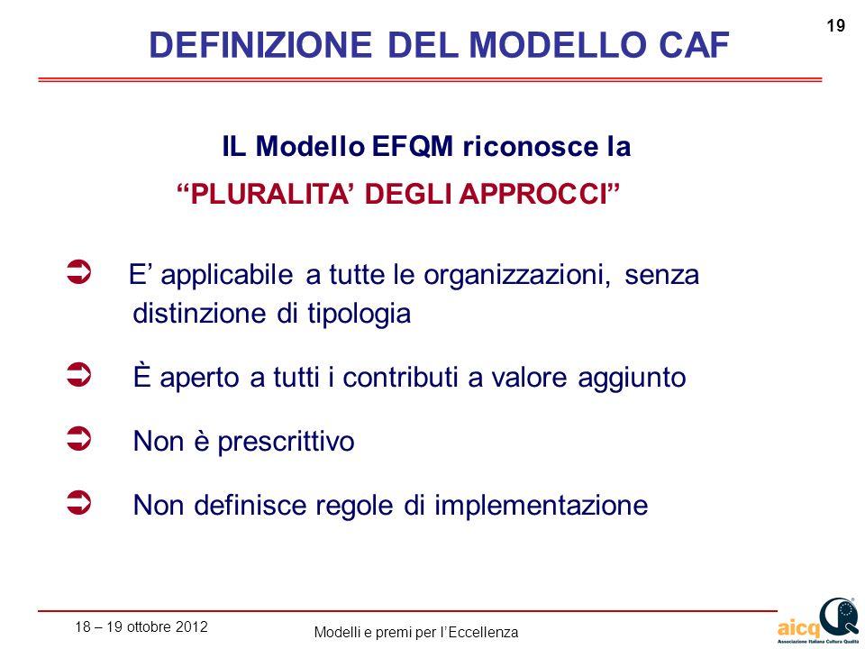 DEFINIZIONE DEL MODELLO CAF