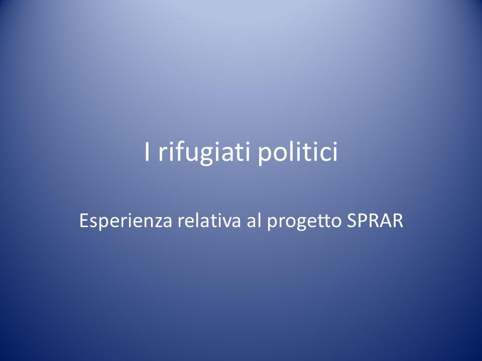 Esperienza relativa al progetto SPRAR
