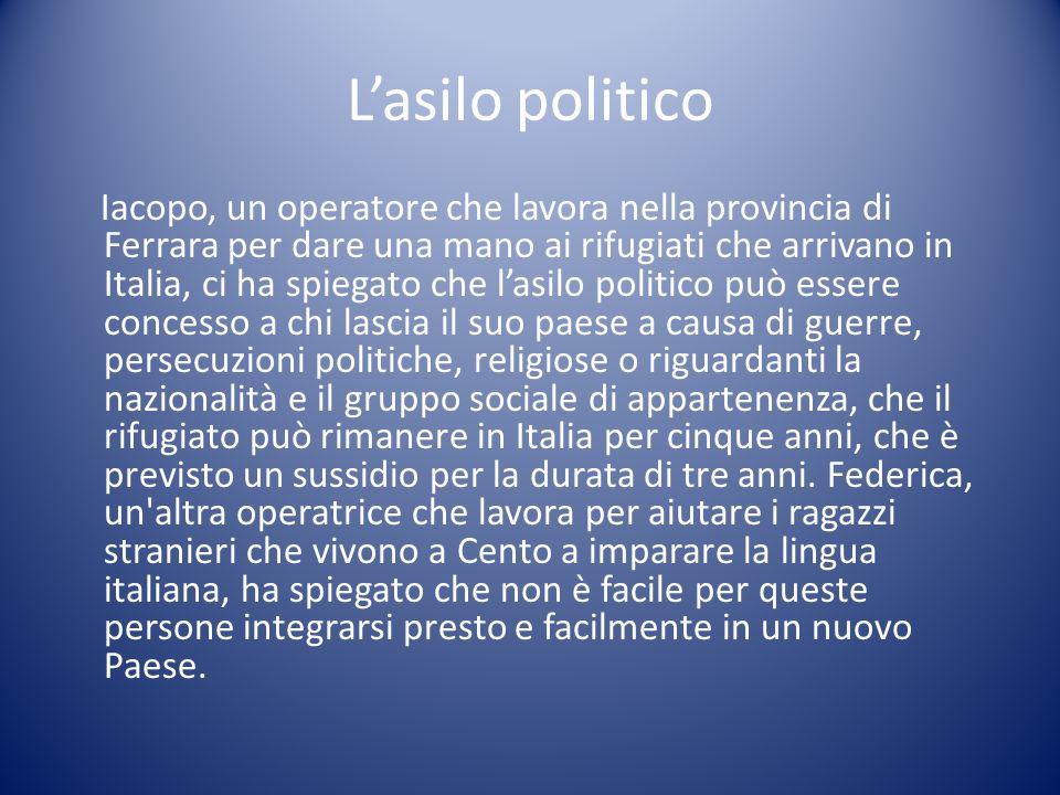 L'asilo politico