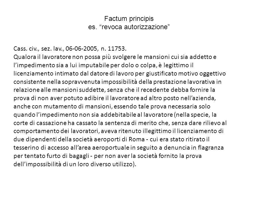 Factum principis es. revoca autorizzazione