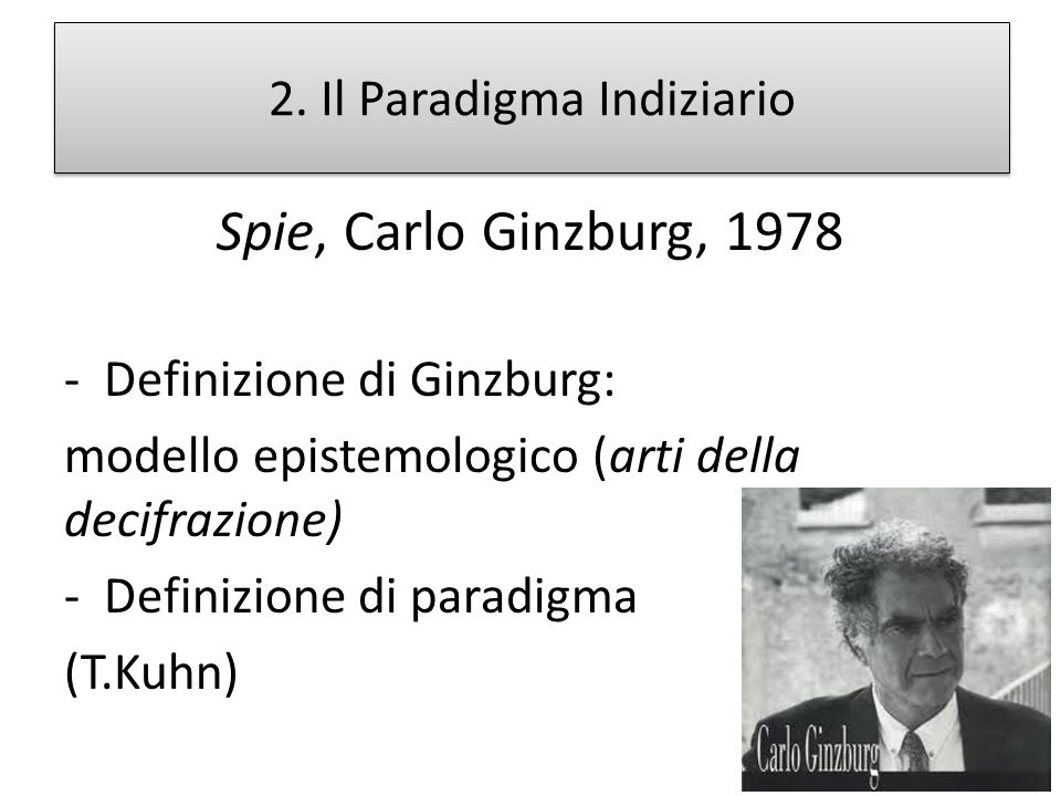 2. Il Paradigma Indiziario