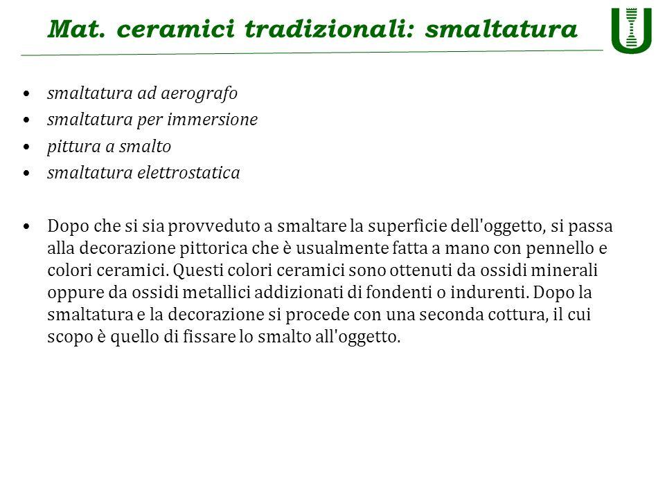 Mat. ceramici tradizionali: smaltatura