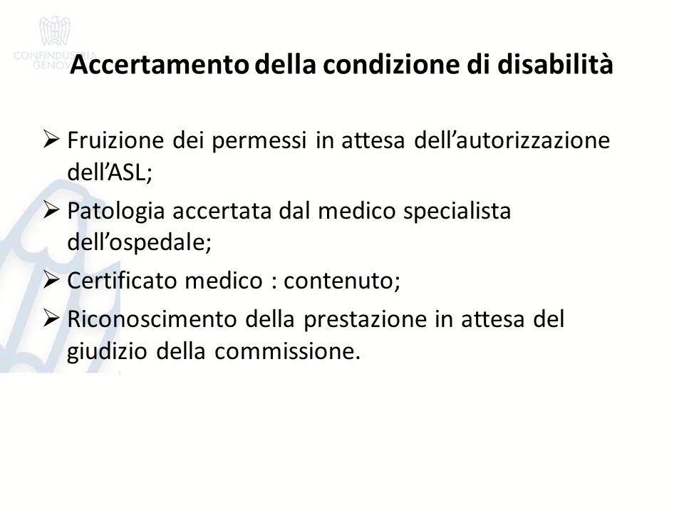 Accertamento della condizione di disabilità