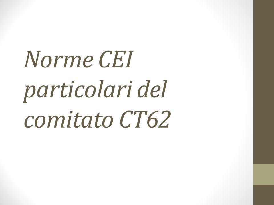 Norme CEI particolari del comitato CT62
