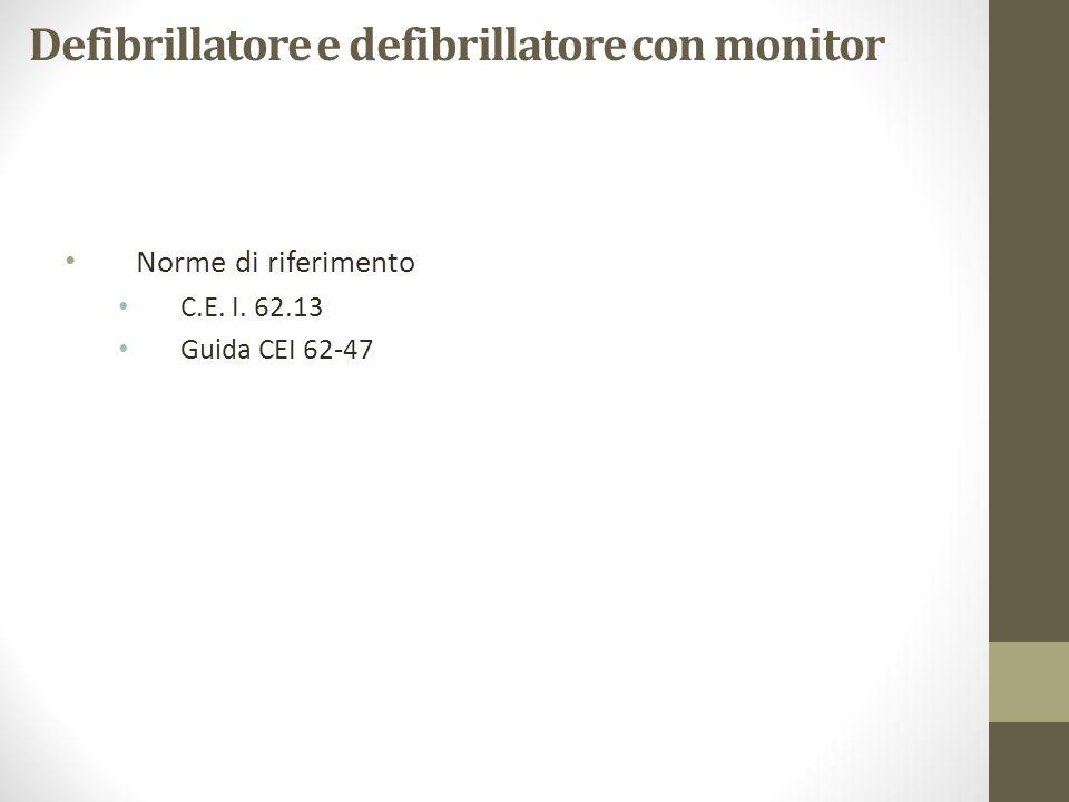 Defibrillatore e defibrillatore con monitor