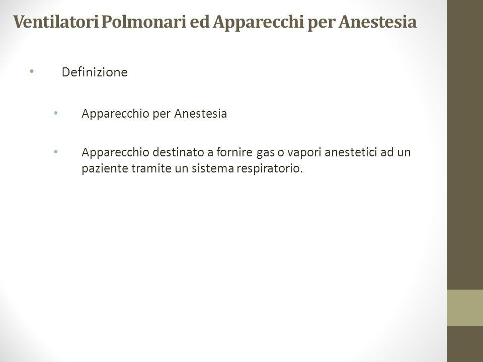 Ventilatori Polmonari ed Apparecchi per Anestesia