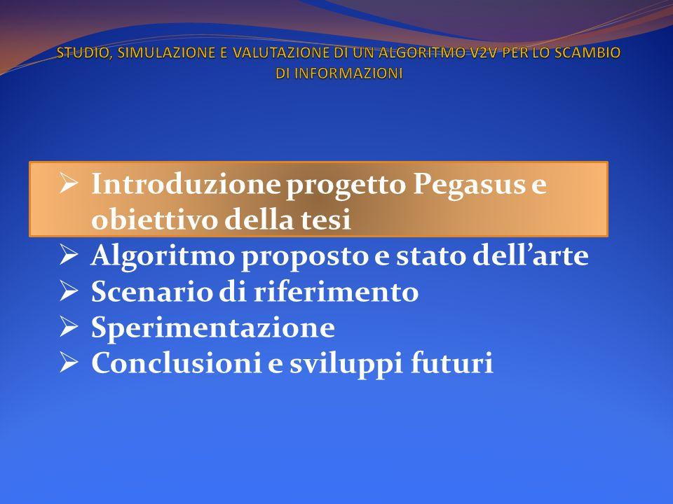 Introduzione progetto Pegasus e obiettivo della tesi