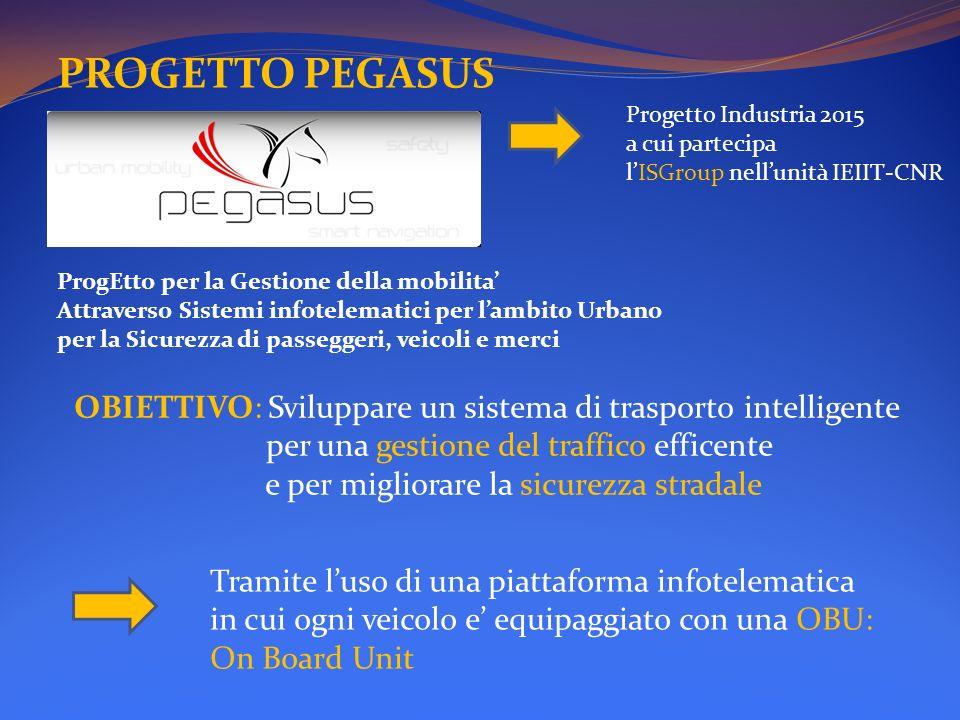 PROGETTO PEGASUS Progetto Industria 2015 a cui partecipa. l'ISGroup nell'unità IEIIT-CNR. ProgEtto per la Gestione della mobilita'