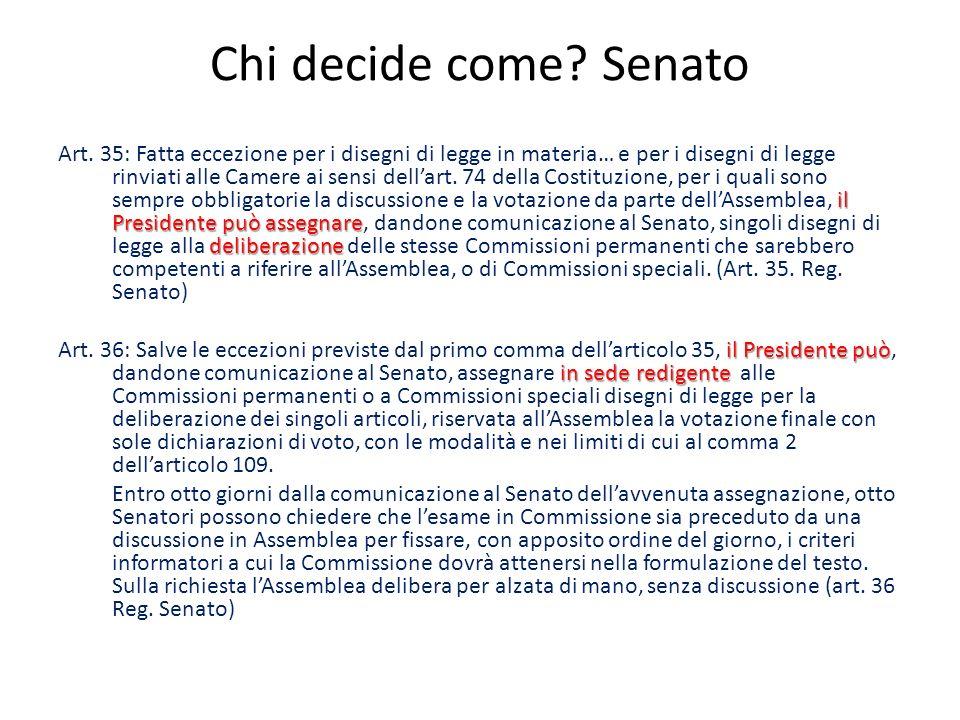 Chi decide come Senato