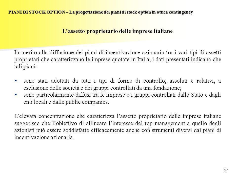 L'assetto proprietario delle imprese italiane